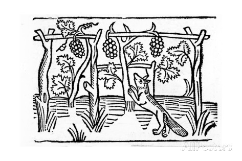 the-fox-and-the-raisins-illustration-from-caxton-s-aesop-s-fables-1484